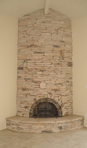 McCormick Ranch Stone Fireplace